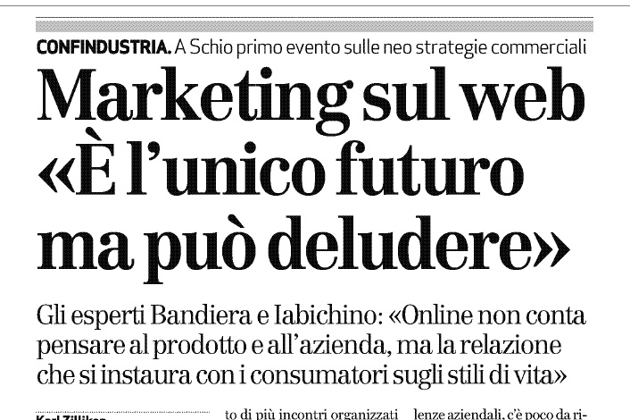 Il marketing on line è il futuro, con qualche accorgimento
